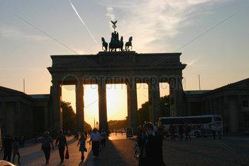 Berlin. Sonnenuntergang am Brandenburger Tor