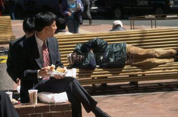 Mittagspause an die Wall Street