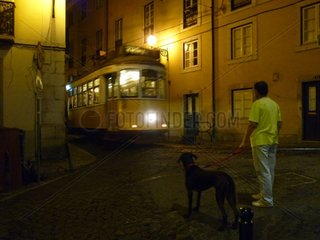 Portugal Lissabon Alfama Strasse Nacht 5