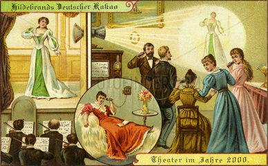 Zukunftsvision 1900  Liveuebertragung Theater