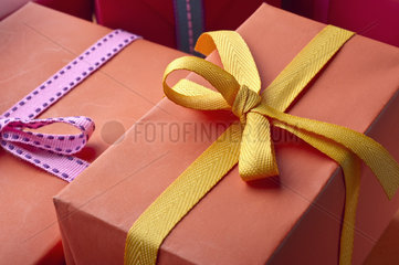 Festively wrapped gifts
