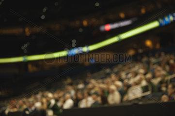 Audience in stadium  defocused