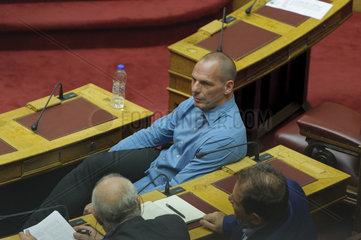Sitzung im griechischen Parlament