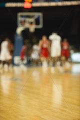 Basketball game  defocused