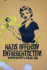 Berlin - Antifa Graffiti