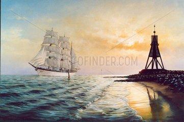 Segelschulschiff Gorch Fock (II) Elbmuendung