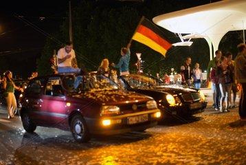 WM Weltmeisterschaft Deutschland Muenchen Leopoldstrasse Fans 2014