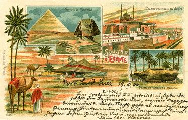 Urlaubskarte aus Aegypten  1900