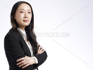 Asiatische Gesch_____ftsfrau
