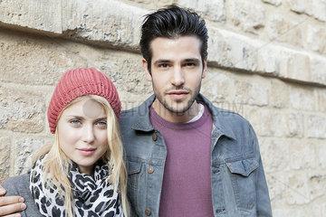 Fashionable young couple  portrait