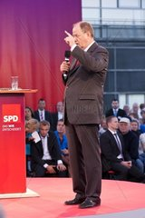 Kiel  Germany  27. August  2013  German Candidate for Chancellor Peer Steinbrueck during an Election Campaign Event