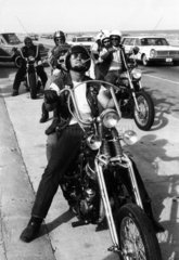 A group of 'Bandidos' on motorcycle