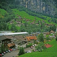 Lauterbrunn im Berner Oberland  Schweiz  Europa