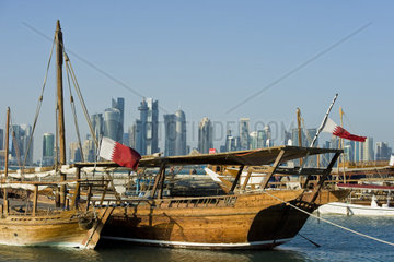 Qatar  Doha  traditional boats