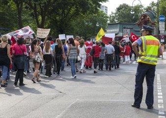 Kundgebung in Berlins City West