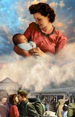 Amerika Historie Mutter Baby 40-er Jahre