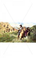Western Verfolgung Reiter Indianer Liebespaar Verteidigung