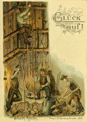 Bergleute bei der Arbeit  Schlesien  1901