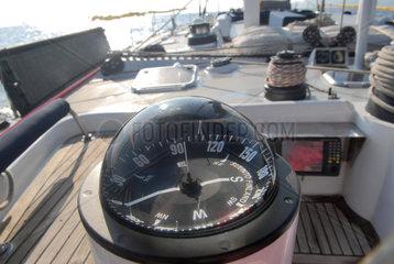sailing boat in navigation in the Mediterranean sea