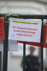 Amnesty International   Solidaritaetskonzert fuer das Refugee Protest Camp-Fluechtlinge im Servitenkloster