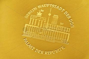 Gravur Palast der Republik  Berlin  DDR  1975