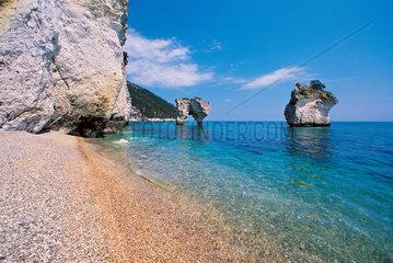 Italy  Apulia  Salento  Gargano  a beach