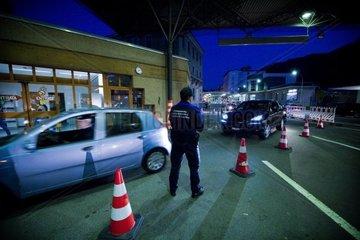 Italian border  Chiasso custom  Canton Ticino  Switzerland