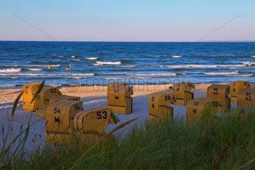 Scharbeutz  Strand am Abend.