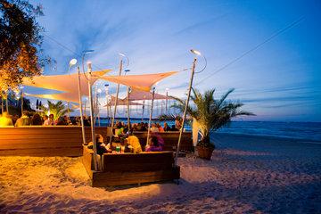 Scharbeutz  Beach Lounge am Abend.