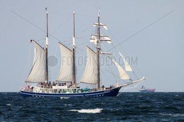 Dreimast Bramsegelschoner Santa Barbara Anna auf der Ostsee