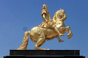 Goldener Reiter  Reiterstandbild August II. von Sachsen  August der Starke  Dresden  Sachsen  Deutschland  Europa
