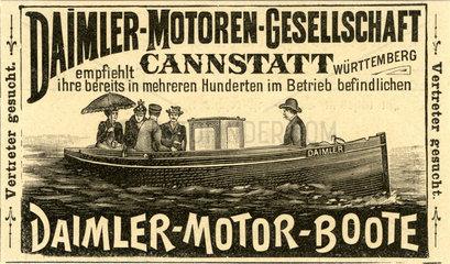 Werbung fuer Daimler Motorboote  1894