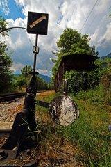 Zug am Abstellgleis