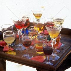 Italy  Apulia  typical flavoured liqueur Rosolio