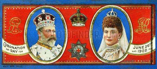 Kroenung Koenig Edward VII.  Koenigin Alexandra  1902