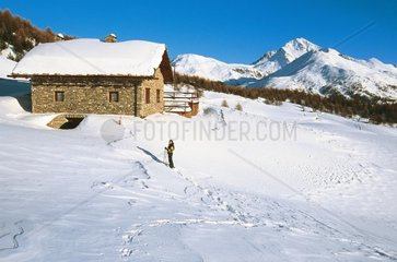 Italy Piedmont  Valle di Susa  Sestriere  landscape