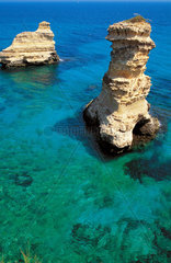 Italy  Apulia  Salento  Gargano  cliff