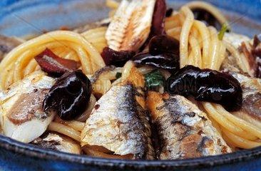 Italy  Liguria  Cinque Terre  traditional spaghetti Cinque terre style