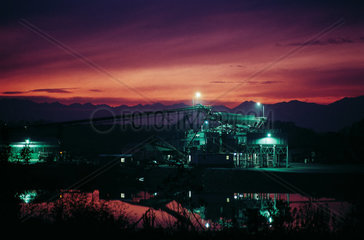Industry  light and sunset