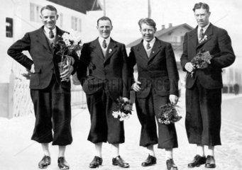 Olympia 1936 4 Sieger Skilanglauf