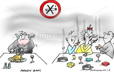 Raucher Nichtraucher verboten