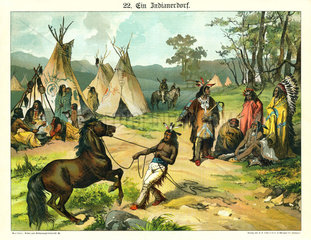 Indianerdorf  Illustration  1885