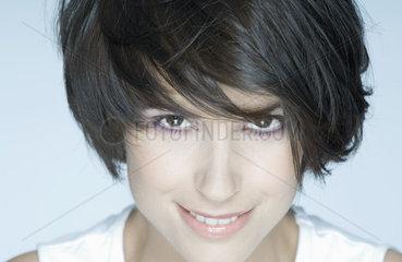 Woman with short hair  portrait