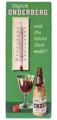 altes Thermometer von Underberg  1960