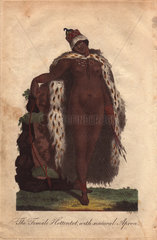 The Female Hottentot with natural Apron. A Khoisan woman with elongated labia that so fascinated the Europeans.