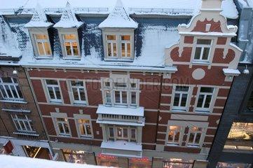 Stadt und Schnee