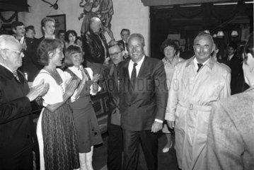Treffen Franz Schoenhuber  Jean-Marie Le Pen  1989