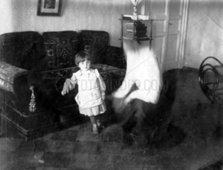 Kind Vater Verschwommen
