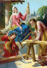 Die Heilige Familie  Wandbild  1900