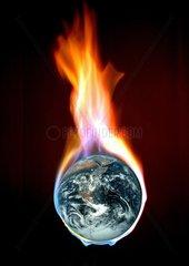 Brennende Erdkugel